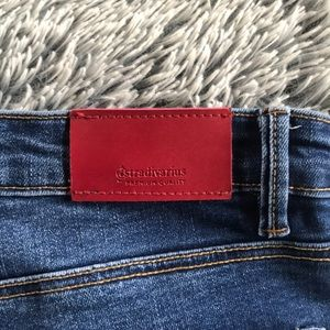 Super high waisted ankle skinny jeans